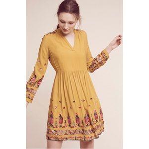 {Anthro} Floreat Raella Embroidered Tunic Dress